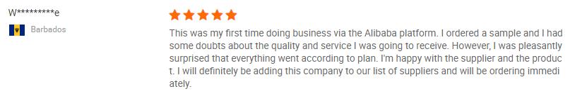 Client's review1